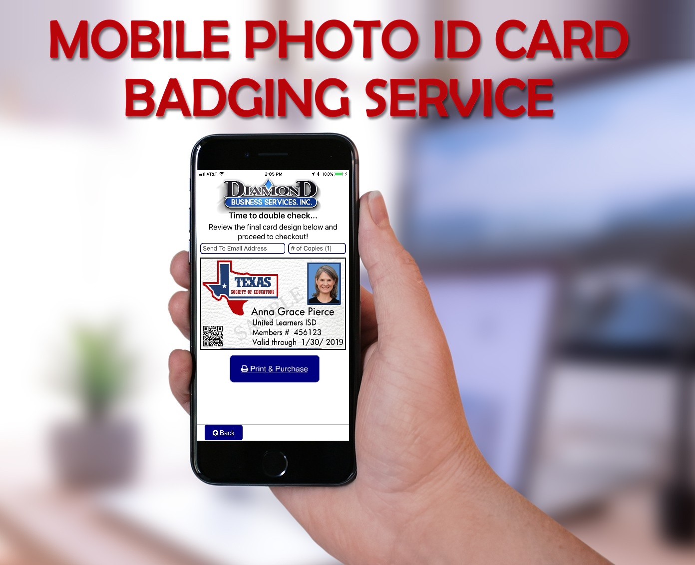 Mobile Photo ID Card Service (iOS and Android) – Diamond Business ...