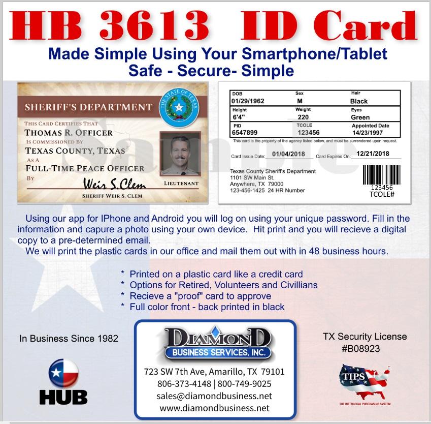 TCOLE ID CARDS - Diamond Business Services